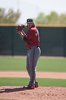 Arizona Diamondbacks relief pitcher Mason McCullough (47) prepares to deliver a pitch during a Minor League Spring Training intrasquad game at Salt River Fields at Talking Stick on March 12, 2018 in Scottsdale, Arizona. (Zachary Lucy/Four Seam Images)