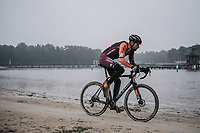 Rob Peeters (BEL/Pauwels Sauzen-vastgoedservice) racing for the very last time in his hometown race.<br /> <br /> men's elite race<br /> Lampiris Zilvermeercross Mol / Belgium 2017
