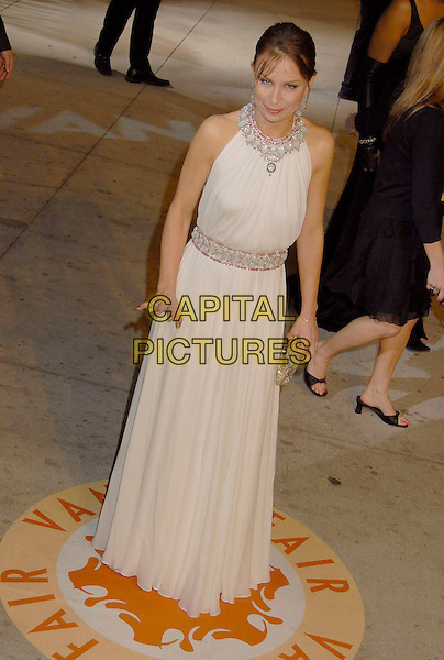 MARY LYNN RAJSKUB.The 2007 Vanity Fair Oscar Party Hosted by Graydon Carter held at Morton's, West Hollywood, California, USA, 25 February 2007..oscars full length white dress beaded.CAP/ADM/GB.©Gary Boas/AdMedia/Capital Pictures.