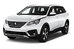 2019 Peugeot 5008 Allure 5 Door SUV angular front stock photos of front three quarter view
