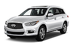 2017 Infiniti QX60 Hybrid 5 Door SUV Angular Front stock photos of front three quarter view