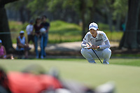 Sung Hyun Park (KOR) looks over her putt on 7 during round 1 of the 2019 US Women's Open, Charleston Country Club, Charleston, South Carolina,  USA. 5/30/2019.<br /> Picture: Golffile | Ken Murray<br /> <br /> All photo usage must carry mandatory copyright credit (© Golffile | Ken Murray)