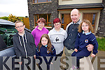 The Murphy family from left, Jordan, Nichola, Chelsey, Christina, JJ and Sarah who's house in Cathair Lakes, Killorglin was struck by lightning on Friday evening.