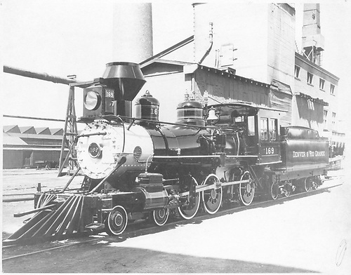 Engine #169 on the way to the 1939 New York World's Fair.<br /> D&amp;RGW  Denver, CO  2/1939