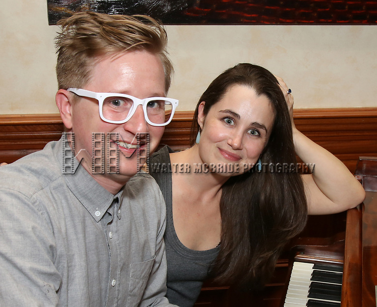 Kyle Jarrow and Lauren Worsham attends the DGF Salon with Kyle Jarrow on November  1, 2018 at The Uterbetg Residence in New York City.