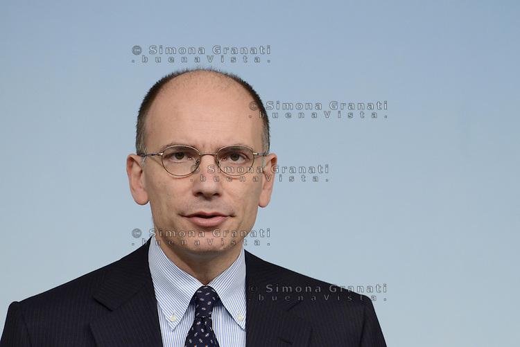 Roma, 27 Novembre 2013<br /> Palazzo Chigi<br /> Conferenza stampa del Presidente del Consiglio Enrico Letta sulla fiiducia al Governo e la nuova maggioranza