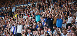 Sheffield Wednesday fans applaud the Rangers support