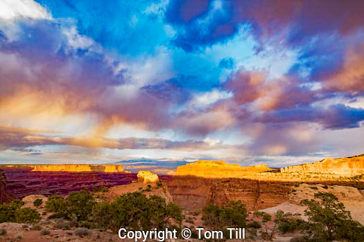 Sunset clouds at the Neck, Canyonlands National Park, Utah Island in the Sky District