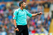 10th September 2017, Turf Moor, Burnley, England; EPL Premier League football, Burnley versus Crystal Palace; Referee Michael Oliver controls the game