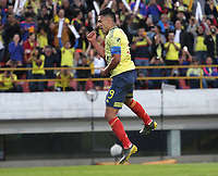 BOGOTÁ- COLOMBIA,03-06-2019:Falcao Garcia jugador de Colombia celebra después de anotar un gol a Panamá durante   partido amistoso de preparación para la Copa América de Brasil 2019 jugado en el estadio Nemesio Camacho El Campín de la ciudad de Bogotá. / Falcao Garcia  player of Colombia celebrates after scoring a goal agaisnt of Panama during friendly match in preparation for the Copa América of Brazil 2019 played in the Nemesio Camacho El Campín stadium in the city of Bogotá.. Photo: VizzorImage / Felipe Caicedo / Staff