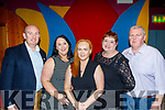 Attending the 1st Sliabh Luachra Camogie Club prize night, last Saturday, in the Riverisland hotel, Castleisland were L-R Con Walsh, child welfare officer, Noelle O'Sullivan, secretary, Anne Walsh, chairperson, Teresa Keating, vice sec and John Keating, coach.