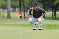 Jordan Spieth (USA) on the 2nd green during Sunday's Final Round of the WGC Bridgestone Invitational 2017 held at Firestone Country Club, Akron, USA. 6th August 2017.<br /> Picture: Eoin Clarke | Golffile<br /> <br /> <br /> All photos usage must carry mandatory copyright credit (&copy; Golffile | Eoin Clarke)