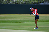 Azahara Munoz (ESP) chips up tight on 4 during round 3 of the 2019 US Women's Open, Charleston Country Club, Charleston, South Carolina,  USA. 6/1/2019.<br /> Picture: Golffile | Ken Murray<br /> <br /> All photo usage must carry mandatory copyright credit (© Golffile | Ken Murray)