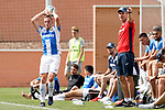 CD Leganes' Vasyl Kravets (l) with the coach Mauricio Pellegrino during friendly match. July 13,2018. (ALTERPHOTOS/Acero)