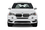 Car photography straight front view of a 2017 BMW X5 xDrive40e 5 Door SUV Front View