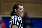 DURHAM, NC - DECEMBER 29: Referee Susan Blauch. The Duke University Blue Devils hosted the Liberty University Flames on December 29, 2017 at Cameron Indoor Stadium in Durham, NC in a Division I women's college basketball game. Duke won the game 68-51.