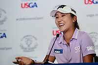 Lydia Ko (NZL) during a press conference following Thursday's first round of the 72nd U.S. Women's Open Championship, at Trump National Golf Club, Bedminster, New Jersey. 7/13/2017.<br /> Picture: Golffile | Ken Murray<br /> <br /> <br /> All photo usage must carry mandatory copyright credit (&copy; Golffile | Ken Murray)