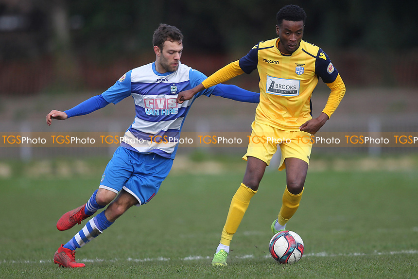 during Ilford vs Hullbridge Sports, Essex Senior League Football at Cricklefields Stadium on 13th April 2019