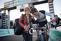 Mathieu Vanderpoel (NLD/BKCP-Powerplus) needs some help after the finish<br /> <br /> Superprestige Francorchamps 2014