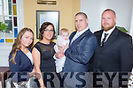 Kieran Doody, Newmarket and Marlies Reen, Tralee road Killarney celebrate the christening of their daughter Saoirse Emily with her god parents Danny doody and Rachel Kelly in the Dromhall Hotel Killarney on Sunday