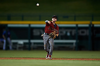 AZL Dbacks shortstop Cam Coursey (4) throws to first base during an Arizona League game against the AZL Cubs 2 on June 25, 2019 at Sloan Park in Mesa, Arizona. AZL Cubs 2 defeated the AZL Dbacks 4-0. (Zachary Lucy/Four Seam Images)