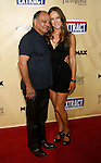 "HOLLYWOOD, CA. - August 24: Cheech Marin and wife Natasha Marin arrive at the Los Angeles premiere of ""Extract"" at the ArcLight Hollywood on August 24, 2009 in Hollywood, California."