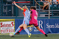 Rochester, NY - Saturday Aug. 27, 2016: Kealia Ohai, Elizabeth Eddy during a regular season National Women's Soccer League (NWSL) match between the Western New York Flash and the Houston Dash at Rochester Rhinos Stadium.