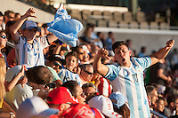 Santa Clara, CA - Monday June 6, 2016: Argentina fans boo Chile fans. Argentina played Chile in the group D match of the Copa América Centenario game at Levi's Stadium.