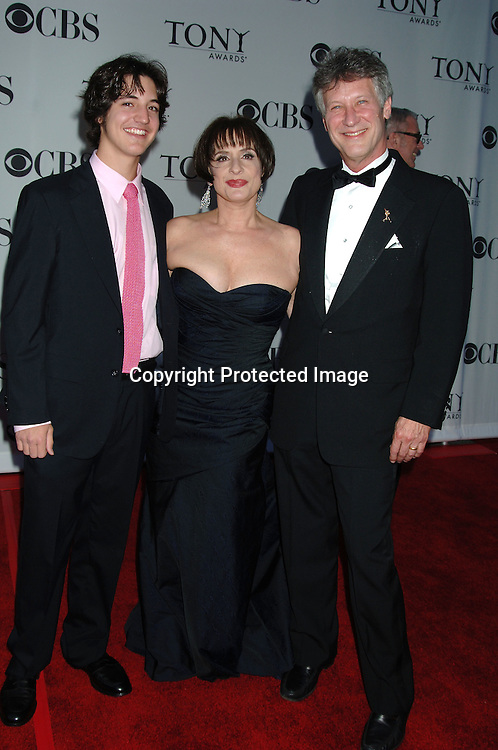 Patti LuPone and son and husband..arriving at the 60th Annual Tony Awards on June11, 2006..at Radio City Music Hall. ..Robin Platzer, Twin Images