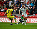 Scott Laird of Stevenage Borough takes on Simon Spender of Barrow  during the  FA Trophy Final between Barrow and Stevenage Borough at Wembley Stadium, London on 8th May,2010..© Kevin Coleman 2010.