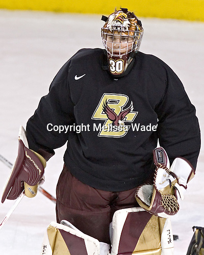 Adam Reasoner - Boston College's morning skate on Friday, December 30, 2005 at Magness Arena in Denver, Colorado.  Boston College defeated Ferris State that afternoon in a shootout and defeated Princeton the following night to win the Denver Cup.