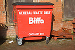 Red Biffa general waste container bin, UK