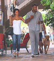 Nicole Murphy and Michael Strahan in Malibu