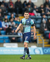 Luke O'Nien of Wycombe Wanderers during the Sky Bet League 2 match between Wycombe Wanderers and Crawley Town at Adams Park, High Wycombe, England on 25 February 2017. Photo by Andy Rowland / PRiME Media Images.