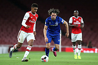 Tyreece John-Jules of Arsenal in action as Everton's Anthony Evans looks on during Arsenal Under-23 vs Everton Under-23, Premier League 2 Football at the Emirates Stadium on 23rd August 2019