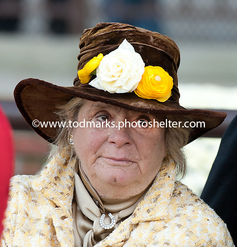 Phyllis Mills Wyether after Union Rags' victory in the 2011 Champagne Stakes.