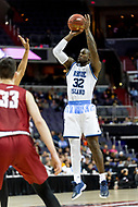 Washington, DC - MAR 10, 2018: Rhode Island Rams guard Jared Terrell (32) goes up for a jump shot during the semi final match up of the Atlantic 10 men's basketball championship between Saint Joseph's and Rhode Island at the Capital One Arena in Washington, DC. (Photo by Phil Peters/Media Images International)