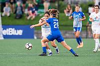 Boston, MA - Friday August 04, 2017: Lo'eau Labonta and Angela Salem during a regular season National Women's Soccer League (NWSL) match between the Boston Breakers and FC Kansas City at Jordan Field.