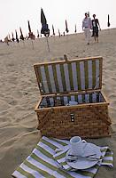 Europe/France/Normandie/Basse-Normandie/14/Calvados/Deauville: Pique-nique sur la plage
