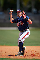 Atlanta Braves Luke Dykstra (18) during practice before an instructional league game against the Houston Astros on October 1, 2015 at the Osceola County Complex in Kissimmee, Florida.  (Mike Janes/Four Seam Images)