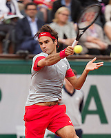 France, Paris, 30.05.2014. Tennis, French Open, Roland Garros, Roger Federer (SUI)<br /> Photo:Tennisimages/Henk Koster