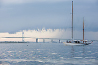 A storm front sends sailors back to port on this summer afternoon