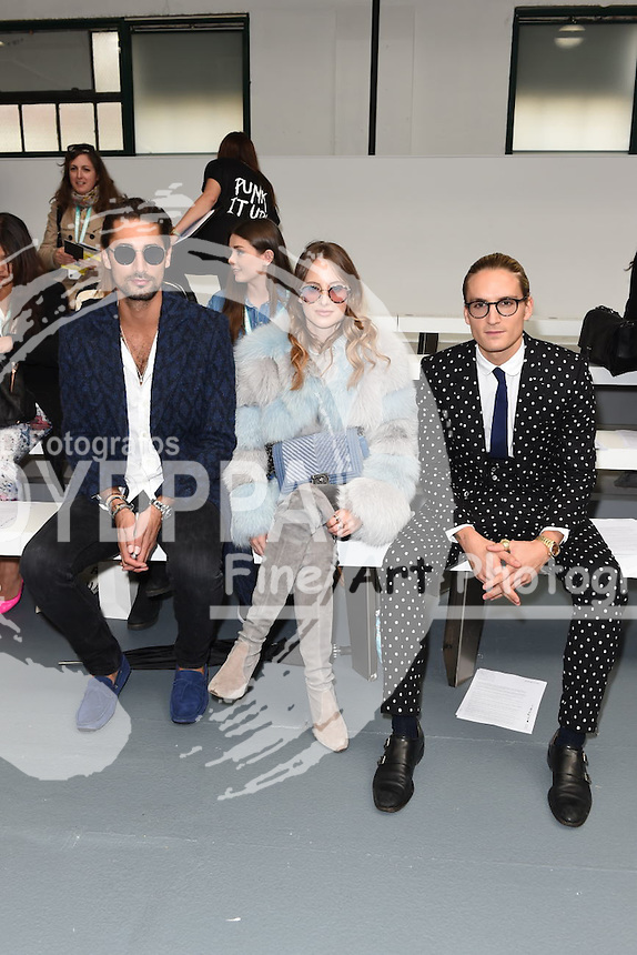 Rosie Fortescue at the Eudon Choi fashion show for London Fashion Week SS16, Soho, London<br /> <br /> &copy;Ash Knotek  D3013  18/09/2015