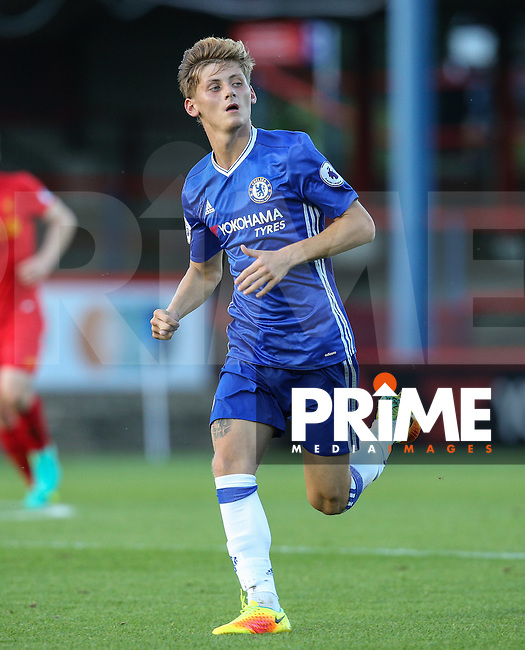 Kyle Scott of Chelsea during the EPL2 - U23 - Premier League 2 match between Chelsea and Liverpool at the EBB Stadium, Aldershot, England on 22 August 2016. Photo by Andy Rowland.