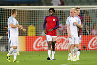 Nathaniel Chalobah of England is all smiles at the final whistle after England Under-21 vs Poland Under-21, UEFA European Under-21 Championship Football at The Kolporter Arena on 22nd June 2017