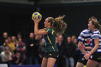 KORFBAL: GORREDIJK: Sport- en Ontspanningscentrum Kortezwaag, 27-11-2013, LDODK - AKC BLAUW WIT, Eindstand 25-28, Jildou Slagmann (#4 | LDODK), ©foto Martin de Jong