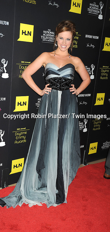 Molly Burnett attends the 39th Annual Daytime Emmy Awards on June 23, 2012 at the Beverly Hilton in Beverly Hills, California. The awards were broadcast on HLN.