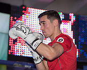 4th October 2017, National Football Museum, Manchester, England; Anthony Crolla and Ricky Burns public workout session; Anthony Crolla shadow boxes during his training session