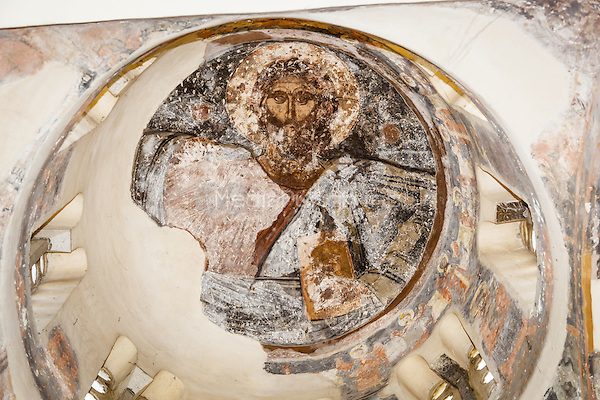 Ceiling painting of Christ, Church of the Holy Apostles, (Holy Apostles of Solaki), Ancient Agora of Athens, Athens, Greece <br /> CAP/MEL<br /> &copy;MEL/Capital Pictures /MediaPunch ***NORTH AND SOUTH AMERICA ONLY***