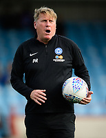 Peterborough United's assistant manager Paul Raynor during the pre-match warm-up<br /> <br /> Photographer Chris Vaughan/CameraSport<br /> <br /> The EFL Sky Bet League One - Scunthorpe United v Peterborough United - Saturday 13th October 2018 - Glanford Park - Scunthorpe<br /> <br /> World Copyright &copy; 2018 CameraSport. All rights reserved. 43 Linden Ave. Countesthorpe. Leicester. England. LE8 5PG - Tel: +44 (0) 116 277 4147 - admin@camerasport.com - www.camerasport.com